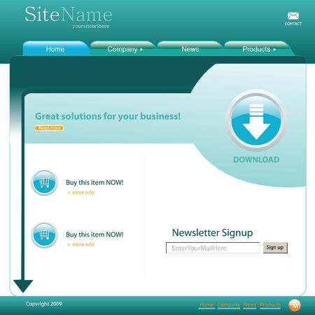 surfing the net: Web site template