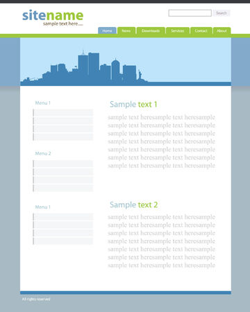 Web site template 2 Vector