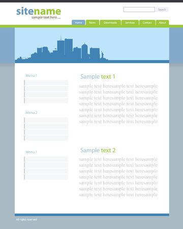 Web site template 2 Illustration
