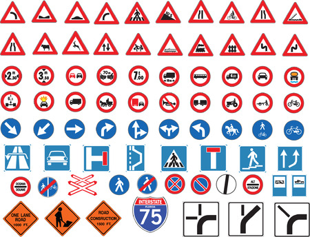 accelerate: traffic signs Illustration