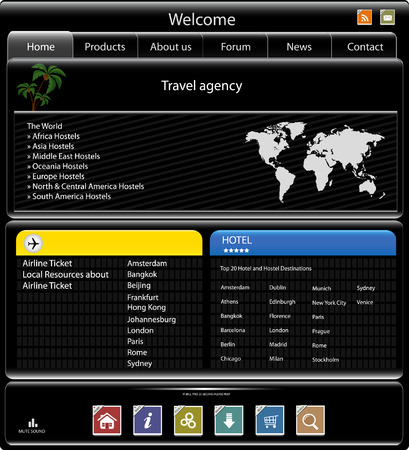 Travel agency web site template Vector