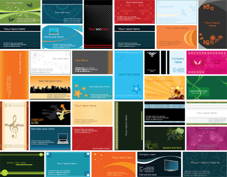 Collection of business cards templates (vector) Illustration