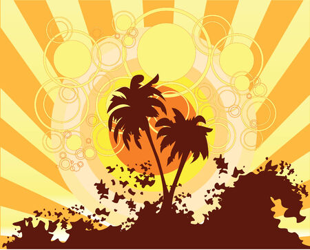 Summer background Stock Vector - 5042374