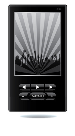 mp4: Mp4 player vector