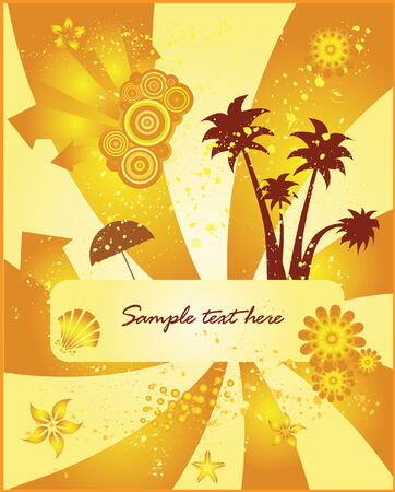 Summer vector background vector Vector