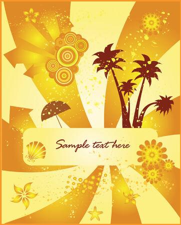 Summer vector background vector