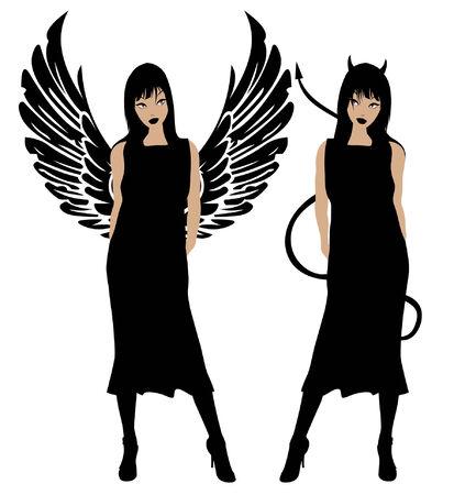 good bad: Ange et d�mon Illustration