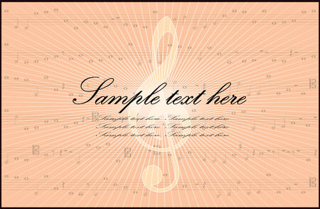 Music key background Vector