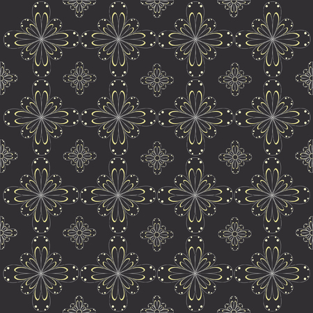 Pattern example vector with flowers Illustration