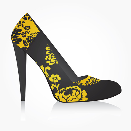 calcanhares: Fashion women shoe vector