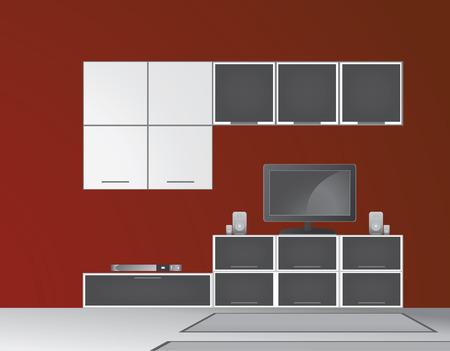 Modern living room vector Stock Vector - 8076397