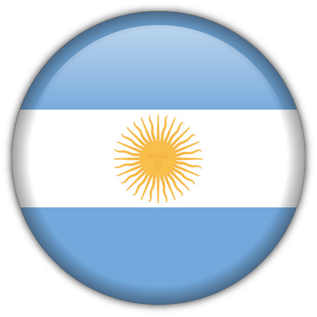 sports flag: Icono de Bandera Argentina