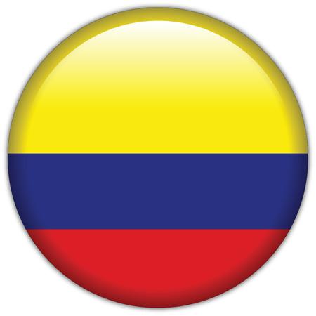 Icône de drapeau de Colombie Vecteurs