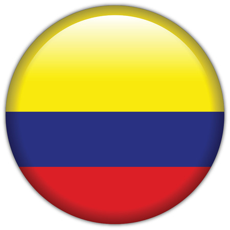 sports flag: Icono de la bandera de Colombia Vectores