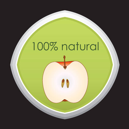 100 percent natural - vector Vector