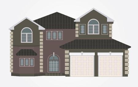row of houses: Ilustraci�n vectorial de casa Vectores