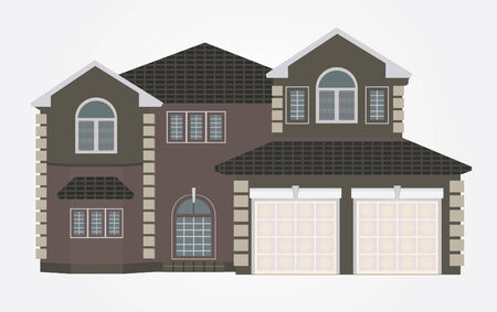 row houses: Vector Illustration of house