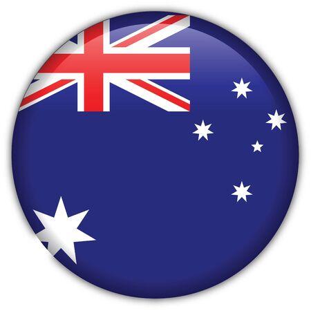 Australia flag icon Illustration