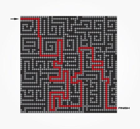 Maze-Vector illustration Stock Vector - 9417380