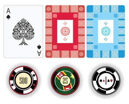 gambling chip: Chip de juego de Poker y jugar a las cartas Vectores