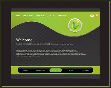 Vector web site design template Illustration