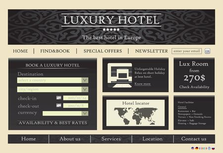 Hotel website template design