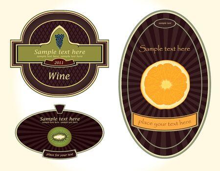 labels-beverage Vector