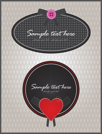 Greeting cards design vector Vector