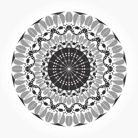 Round ornamental lace vector Vector