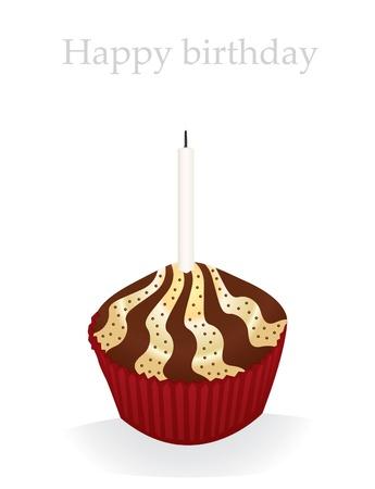 buttercream: Vector cupcake compleanno