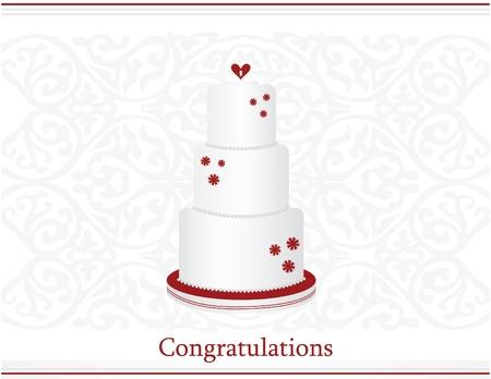 Wedding congratulations card vector