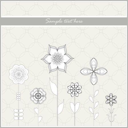 Flowers greeting card  Illustration