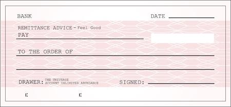 bank check: Blank check vector