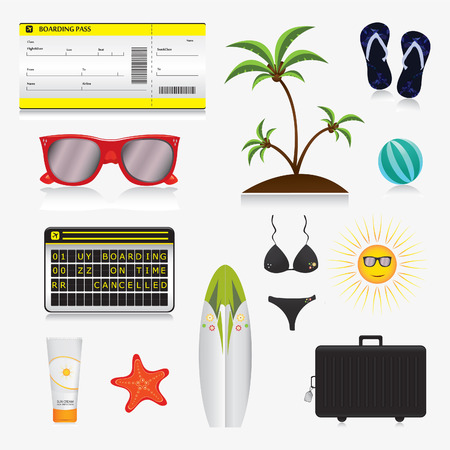 Set of summer vector icons