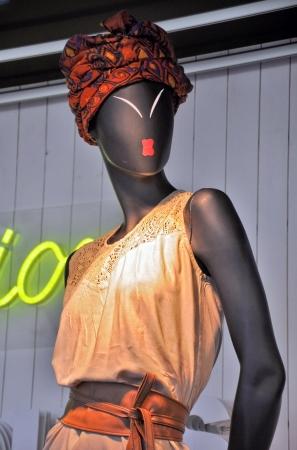 store window: Store window mannequin