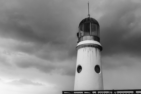Lighthouse standing against the elements Banco de Imagens