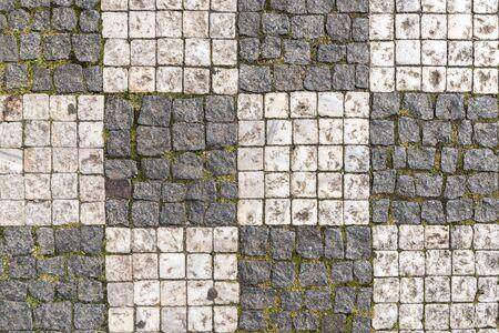 Checkerboard cobblestone street 版權商用圖片