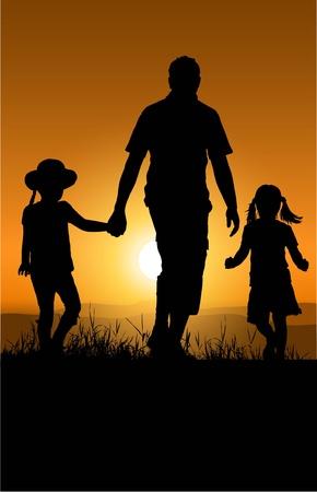 family grass: padre e hija