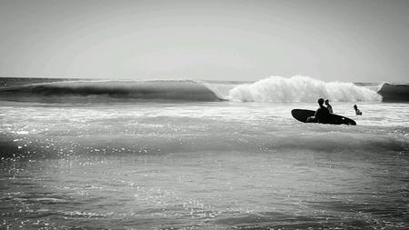 코스타리카 해변에서 컬링 웨이브
