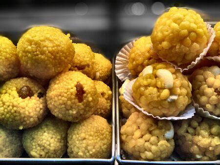 auspicious: Served at auspicious functions motichoor and boondi ladoo are very popular in India