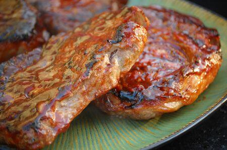 Barbecue steak Imagens