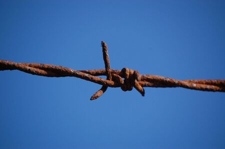 barbed wire Imagens