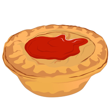 mince pie: Meat Pie with Tomato Sauce
