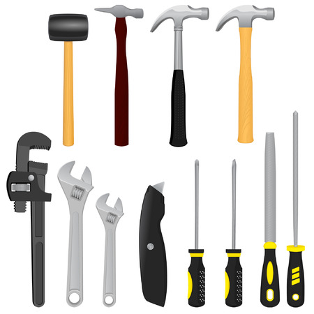 Workshop Tools Stock Vector - 23091194