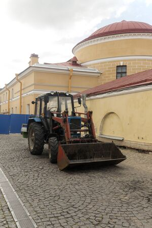 paul: Tractor in the Peter and Paul Fortress Stock Photo