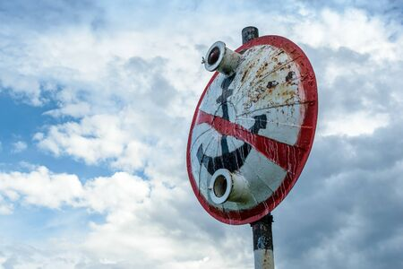 prohibido: Firmar - transporte de agua aparcamiento prohibido Foto de archivo