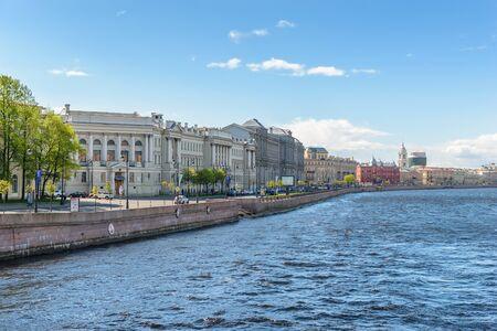 malaya: The Institute of Russian literature (Pushkin house), Naberezhnaya Makarova, St. Petersburg, Russia