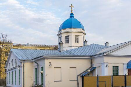 Church Theotokos of Tikhvin in St. Petersburg Stock Photo