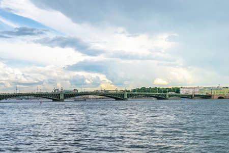 trinity: View of Trinity bridge in St. Petersburg