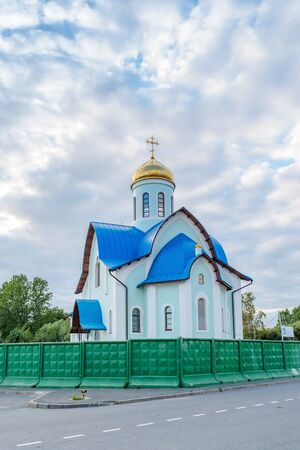 malaya: The Church complex of St. Apostle Andreya Pervozvannogo - temple fishermen on Small Okhta, Saint Petersburg, Russia